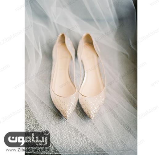 مدل کفش عروس به رنگ بژ