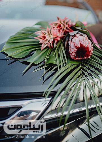 ماشین عروس با گل های خاص و متفاوت