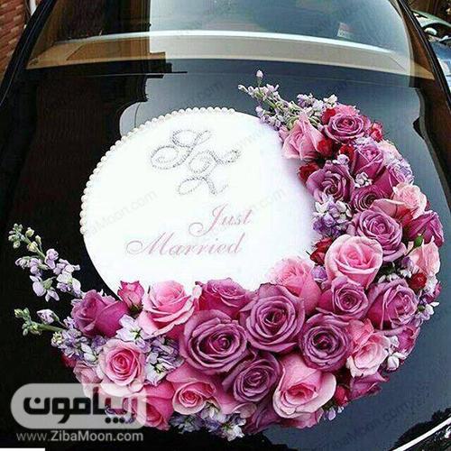 ماشین عروس با یادداشت