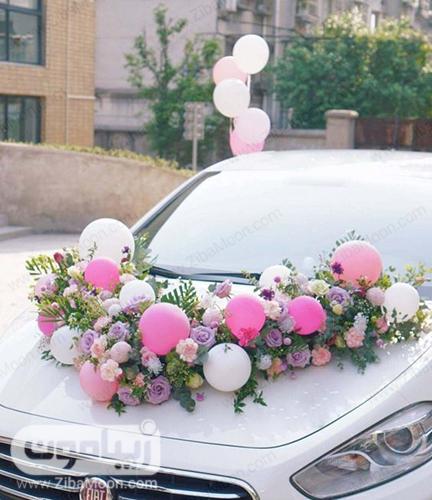 مدل ماشین عروس با گل و بادکنک