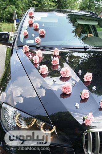 گل آرایی ساده و ارزان قیمت ماشین عروس