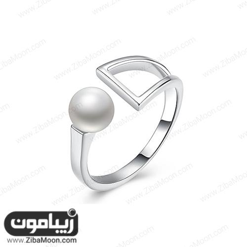 انگشتر نقره دخترانه با طراحی مدرن و زیبا