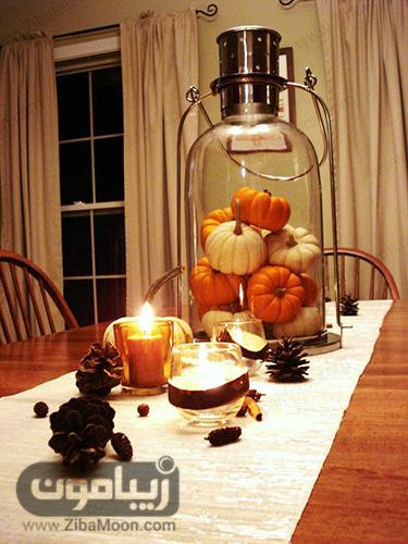 تزئین میز آشپزخانه با شمع