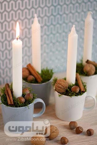 شمع آرایی با فنجان