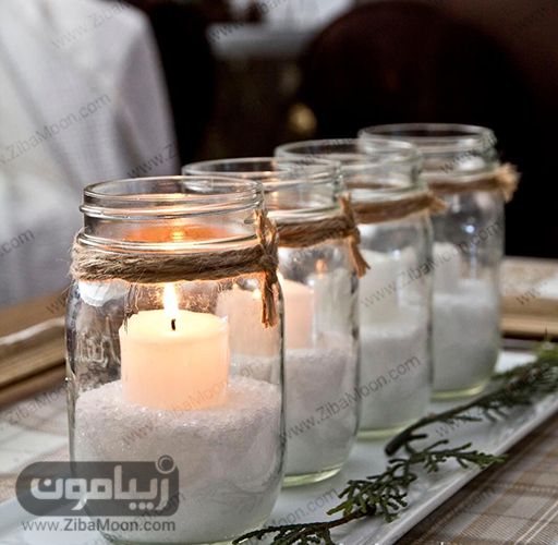 شمع آرایی داخل شیشه مربا