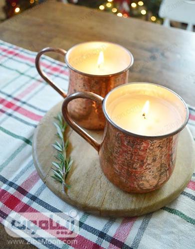 شمع آرایی در لیوان مسی