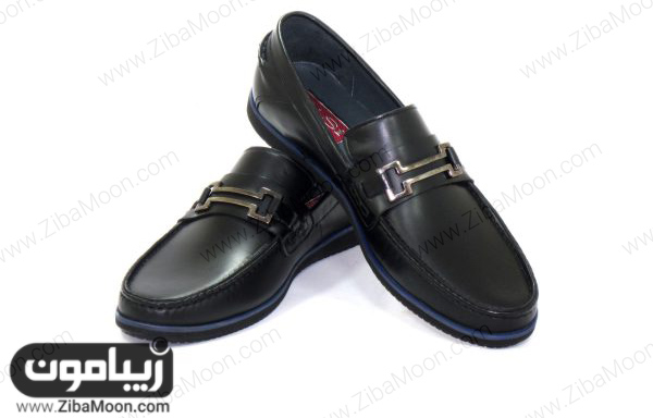 کفش کالج پسرانه چرم با طراحی خاص