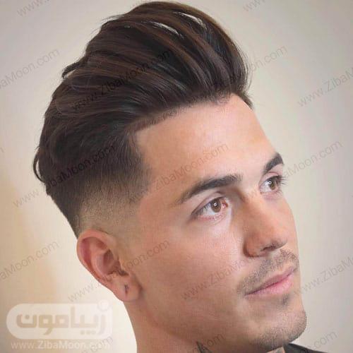 مدل مو خامه ای مردانه با فید متوسط