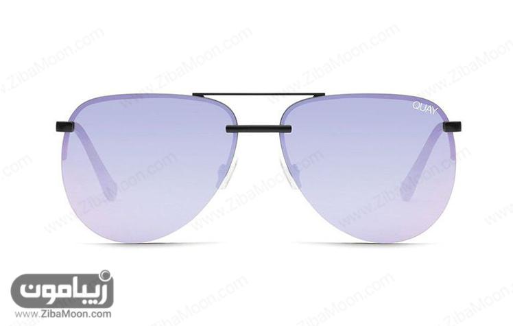 عینک آفتابی زنانه با شیشه و فریم رنگی