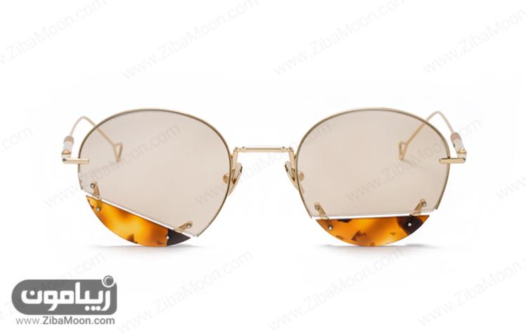 عینک زنانه با شیشه رنگی رفلکس