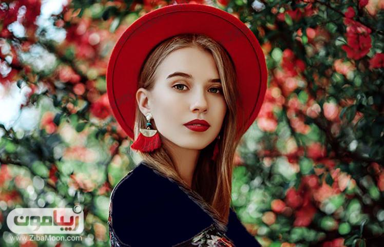کلاه و گوشواره منگوله ای قرمز