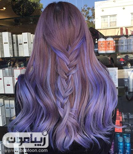 رنگ مو بنفش