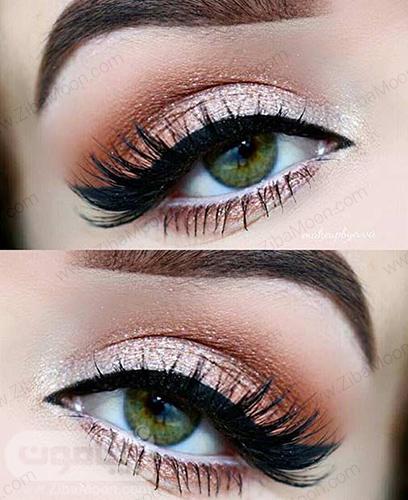 آرایش ساده و شیک برای رنگ چشم سبز