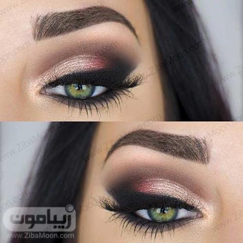 آرایش چشم سبز با سابه اسموکی