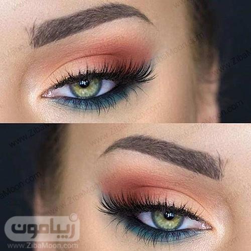 آرایش چشم با سایه قهوه ای
