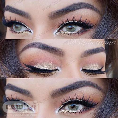 آرایش چشم طلایی