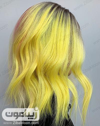 رنگ مو نئونی زرد