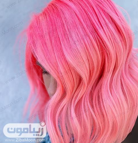 رنگ مو صورتی نئونی
