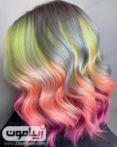 هایلایت مو شیک با رنگهای نئونی