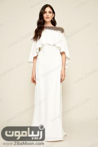 مدل لباس فرمالیته با یقه چین دار و خاص