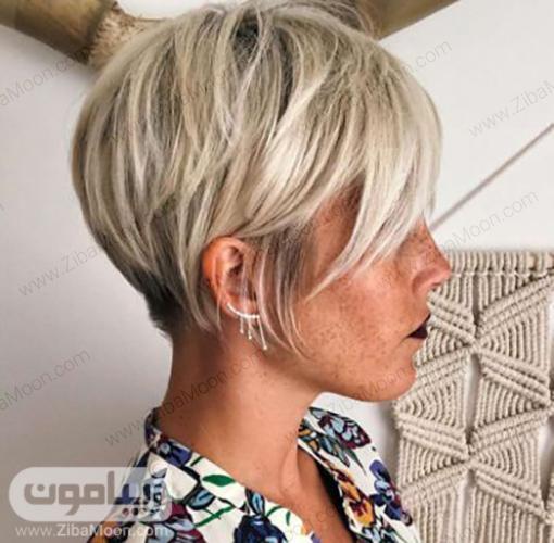 مدل مو کوپ با موهای بلوند
