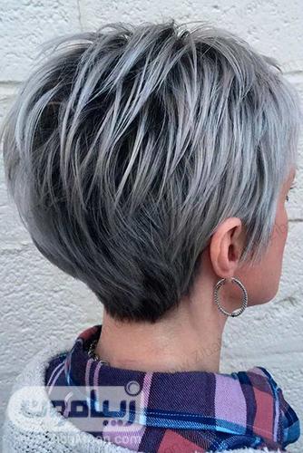 مدل کوپ لیزری با رنگ مو خاکستری