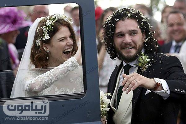 مراسم ازدواج کیت هرینگتون و رز لزلی