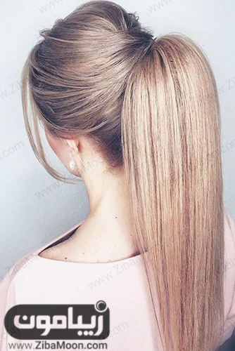 مدل مو دخترانه دم اسبی صاف و شکیل