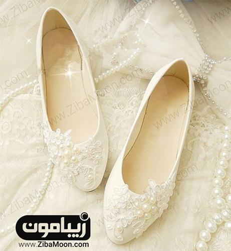کفش پاشنه تخت عروس