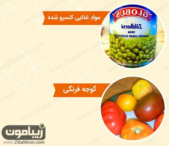 گوجه فرنگی و کنسرو