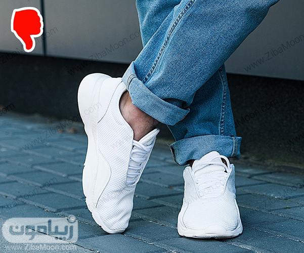 پوشیدن کفش بدون جوراب