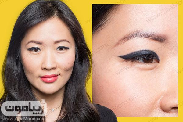 مدل خط چشم برای چشم هایی با پلک کوتاه