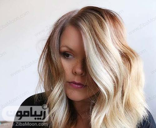 رنگ مو بلوند با هایلایت پلاتینی زیبا و خاص