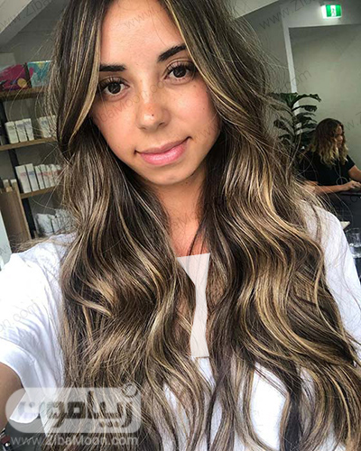 موهای تیره با هایلایتهای بلوند و زیبا
