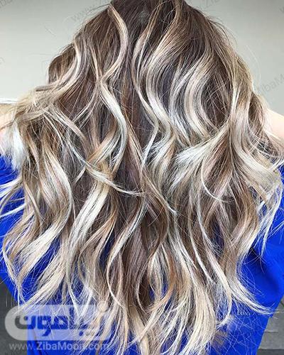 هایلایت مو با سایه های مختلف رنگ مو روشن و بلوند