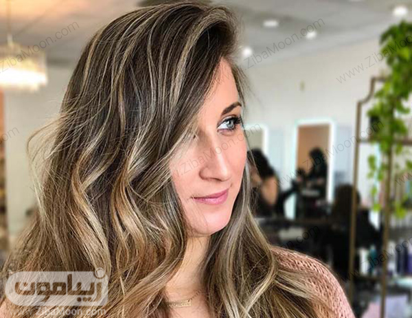 هایلایت مو بلوند و روشن روی موهای تیره