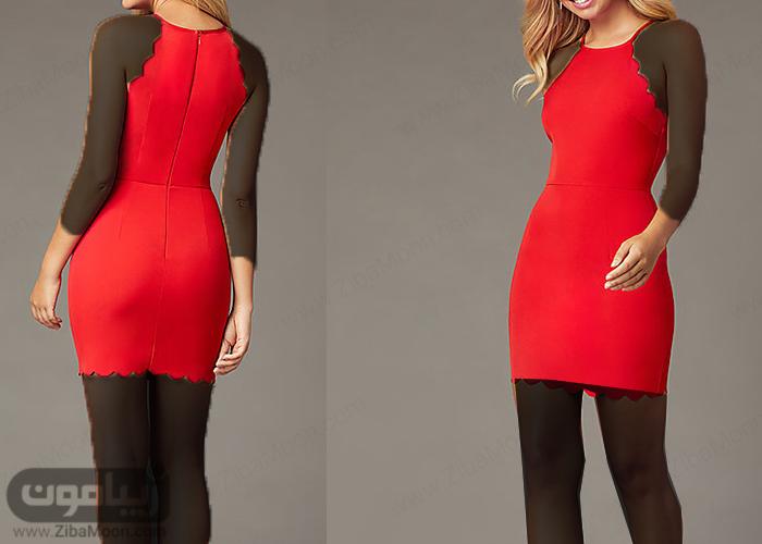 لباس مجلسی کوتاه قرمز و جذاب
