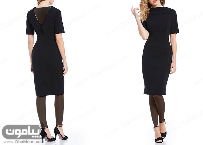 مدل لباس مجلسی شیک و ساده با آستین کوتاه