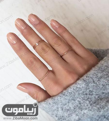 مدل انگشتر و بند انگشتی ساده و مینیمال