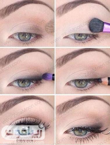 آموزش آرایش چشم لایت و طبیعی