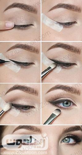 آموزش خط چشم و آرایش چشم طبیعی و ملایم