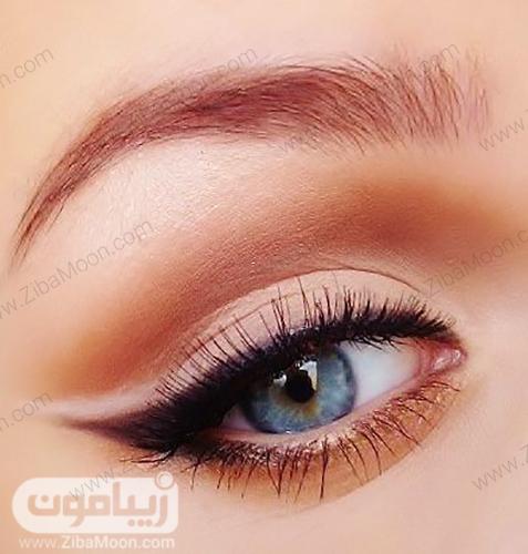 مدل آرایش و خط چشم لایت برای چشم رنگی