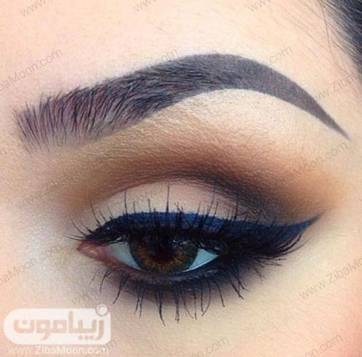 مدل آرایش چشم لایت با خطچشم بالدار و شیک