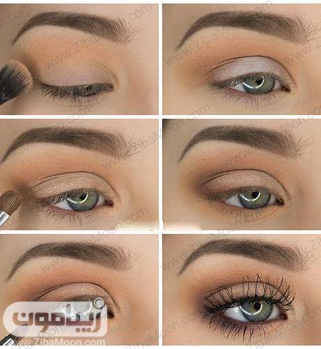 آموزش سایه چشم طبیعی و دودی دخترانه