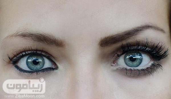 مقایسه خط چشم سفید و مشکی در واترلاین