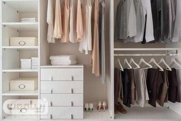 کمد لباس مرتب و منظم