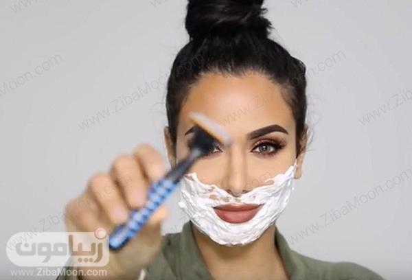 شیو کردن پوست خانمها