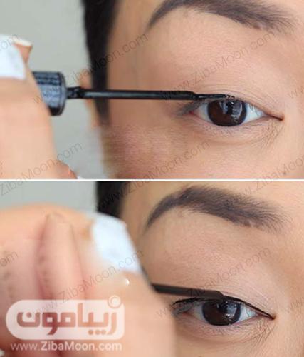 کشیدن خط چشم مرحله دوم