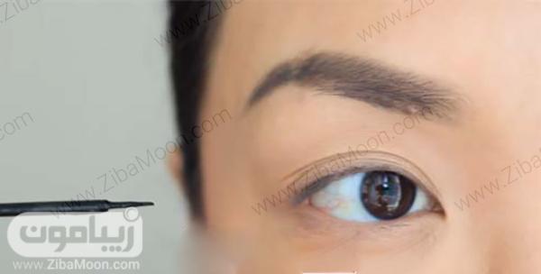 کشیدن خط چشم مرحله اول
