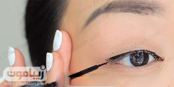 کشیدن خط چشم مرحله سوم